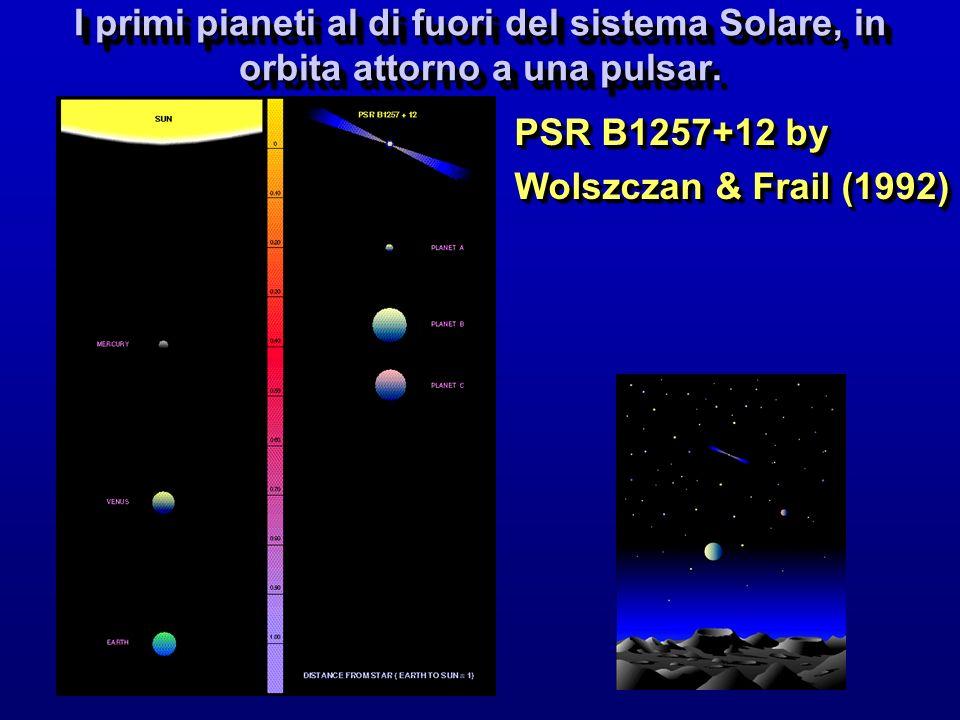 I primi pianeti al di fuori del sistema Solare, in orbita attorno a una pulsar. PSR B1257+12 by Wolszczan & Frail (1992) PSR B1257+12 by Wolszczan & F