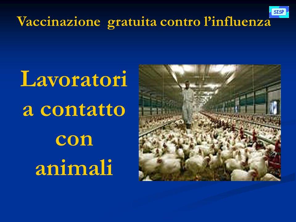 Vaccinazione gratuita contro linfluenza Lavoratori a contatto con animali