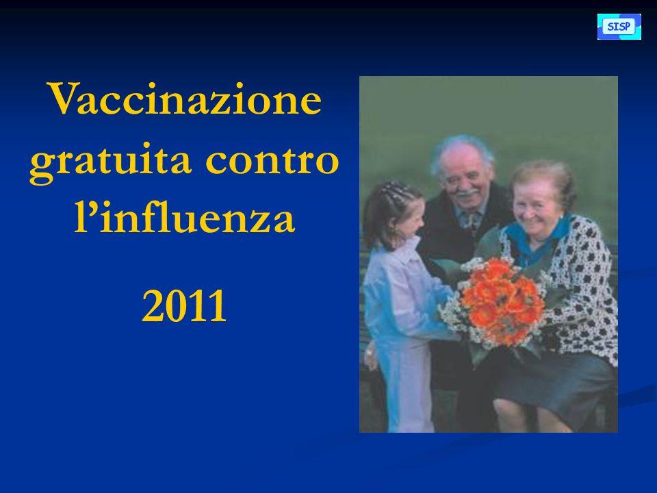 Vaccinazione gratuita contro linfluenza 2011