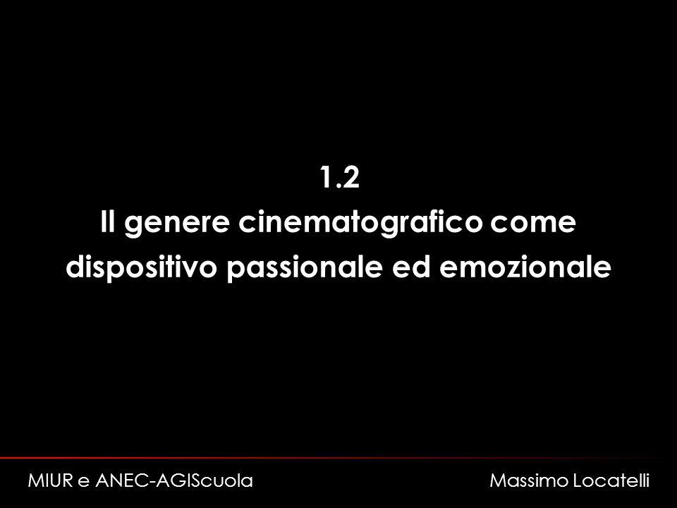 1.2 Il genere cinematografico come dispositivo passionale ed emozionale MIUR e ANEC-AGIScuola Massimo Locatelli