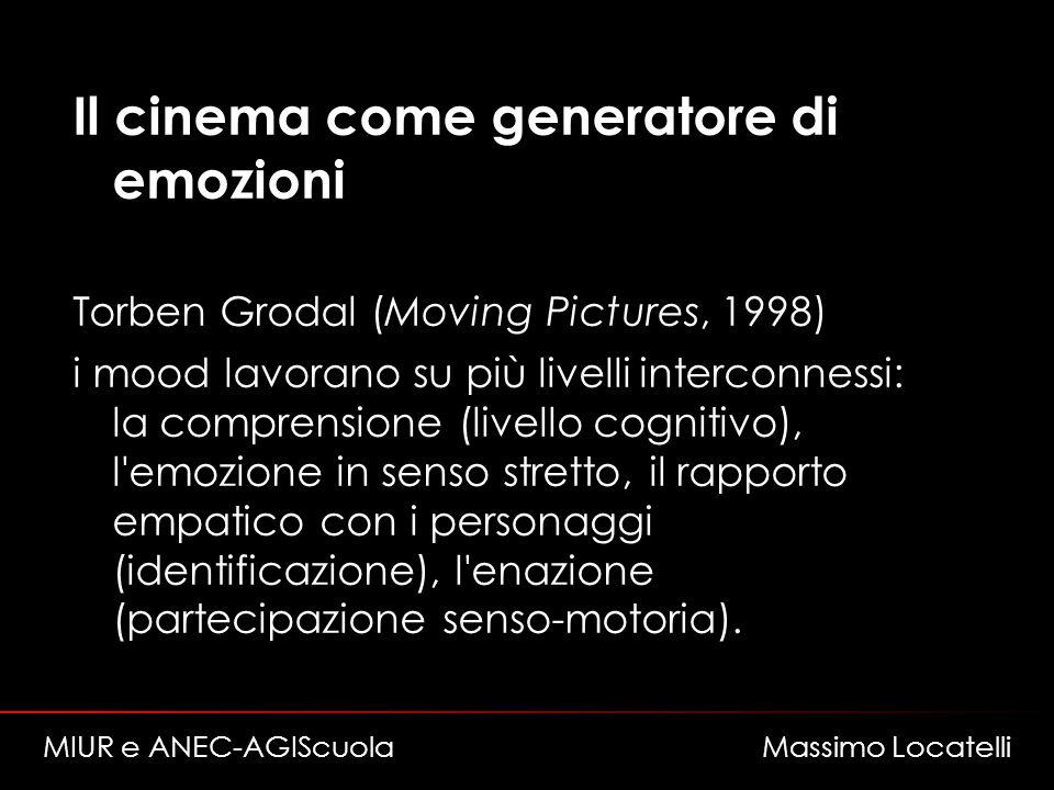 Il cinema come generatore di emozioni Torben Grodal (Moving Pictures, 1998) i mood lavorano su più livelli interconnessi: la comprensione (livello cog