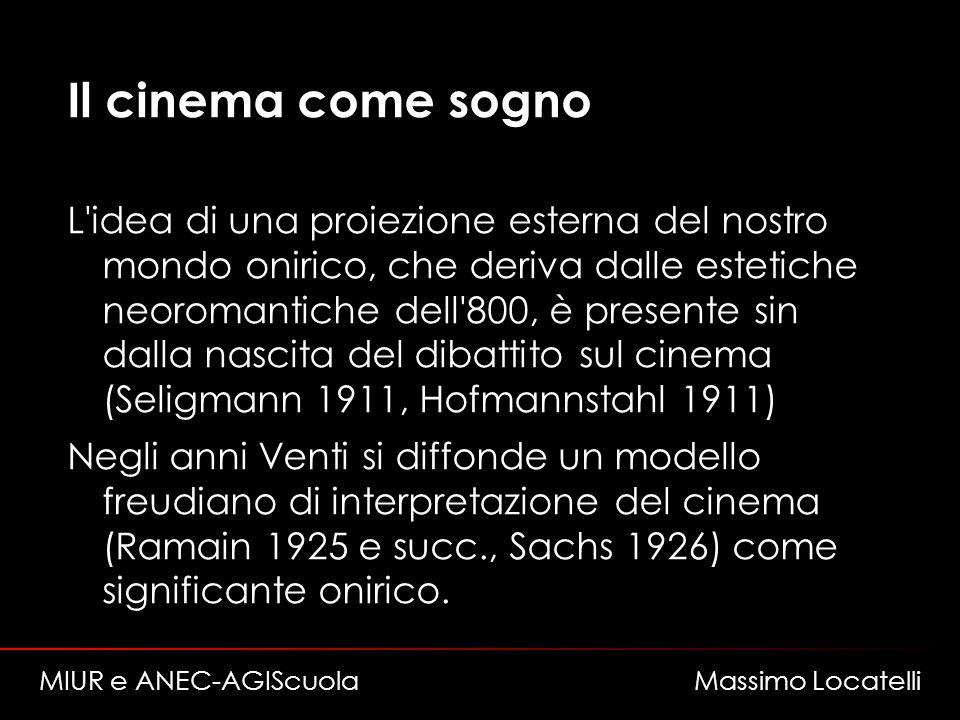 Il cinema come sogno L'idea di una proiezione esterna del nostro mondo onirico, che deriva dalle estetiche neoromantiche dell'800, è presente sin dall