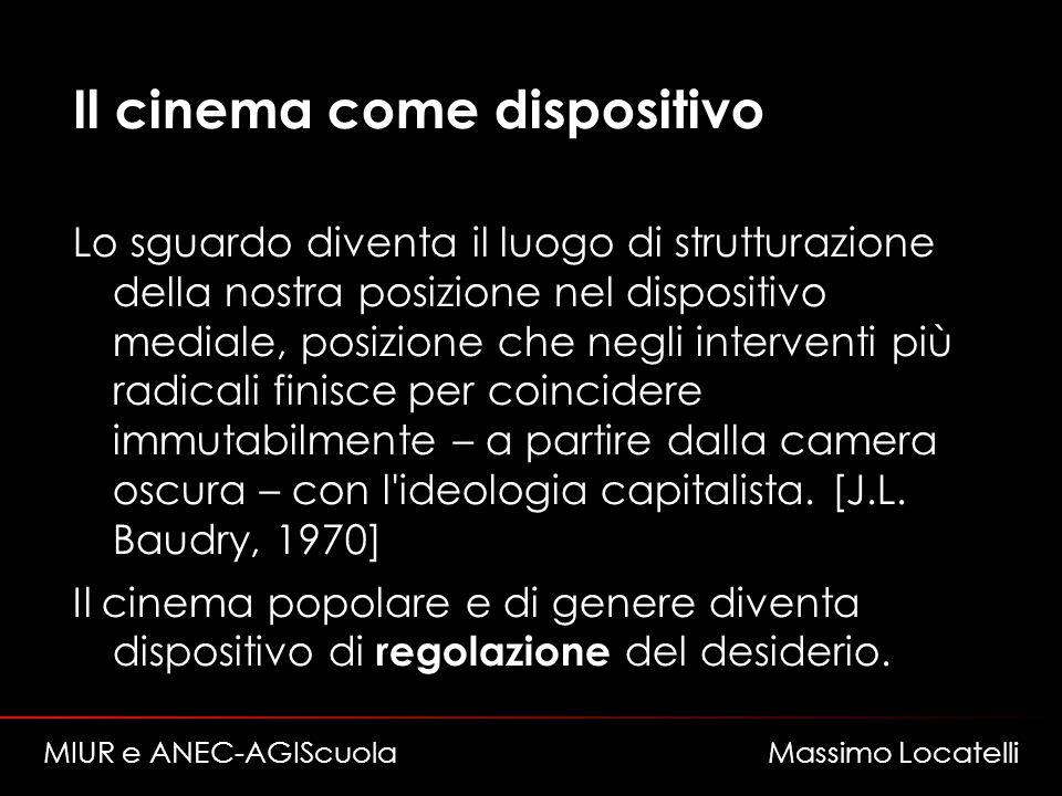 Il cinema come dispositivo Lo sguardo diventa il luogo di strutturazione della nostra posizione nel dispositivo mediale, posizione che negli intervent
