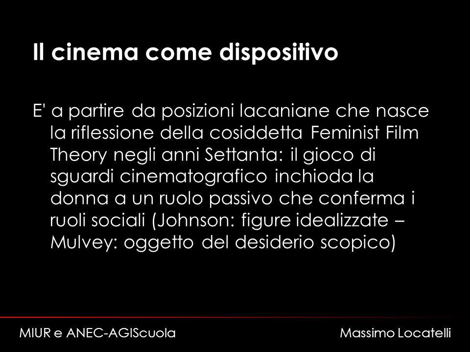 Il cinema come dispositivo E' a partire da posizioni lacaniane che nasce la riflessione della cosiddetta Feminist Film Theory negli anni Settanta: il