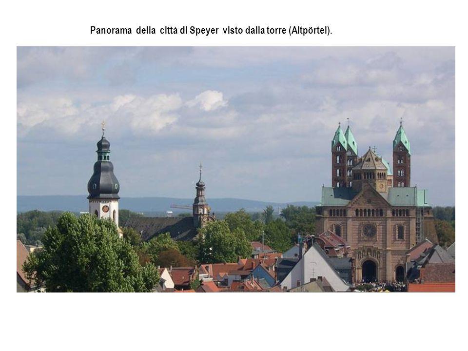Panorama della città di Speyer visto dalla torre (Altpörtel).