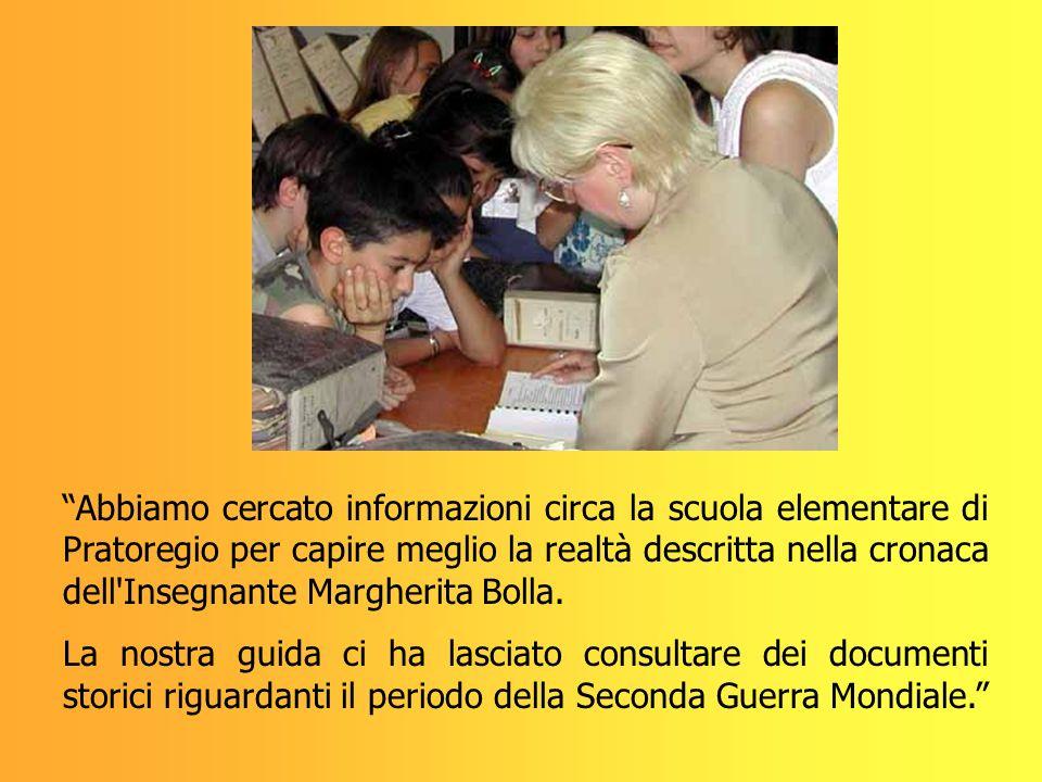 Abbiamo cercato informazioni circa la scuola elementare di Pratoregio per capire meglio la realtà descritta nella cronaca dell'Insegnante Margherita B