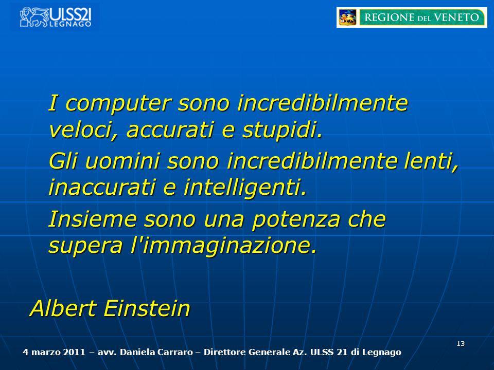 I computer sono incredibilmente veloci, accurati e stupidi. Gli uomini sono incredibilmente lenti, inaccurati e intelligenti. Insieme sono una potenza