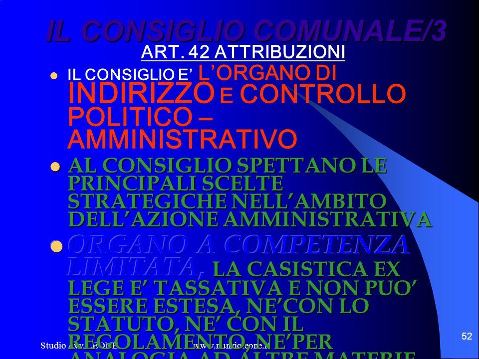 Studio Avv. LEONE www.nunzioleone.it 52 IL CONSIGLIO COMUNALE/3
