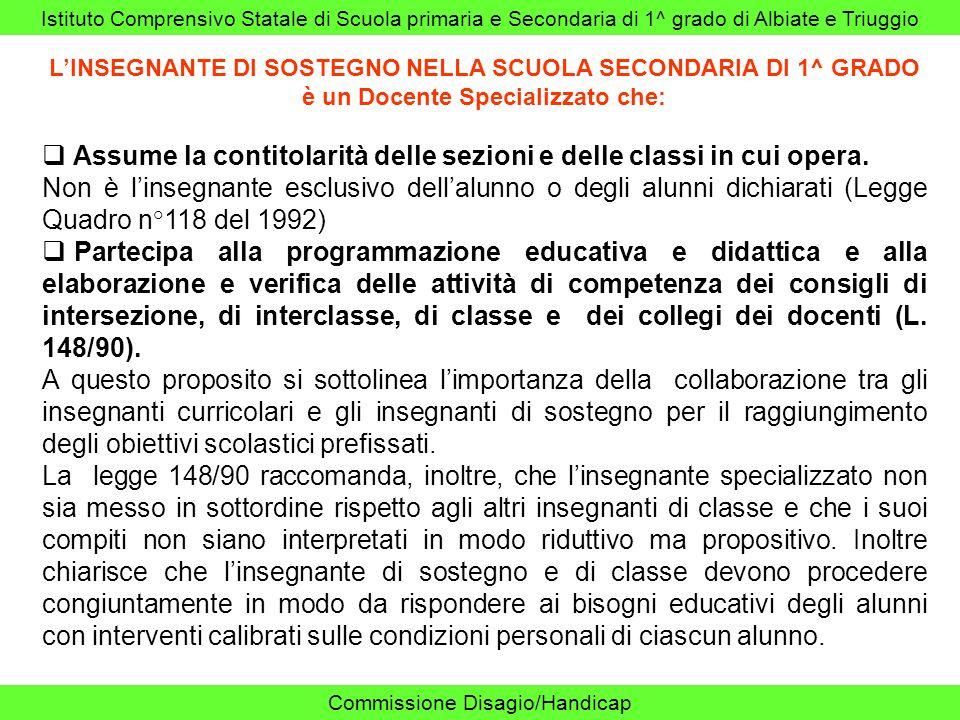 Istituto Comprensivo Statale di Scuola primaria e Secondaria di 1^ grado di Albiate e Triuggio Commissione Disagio/Handicap INDIRIZZI CENTRI RIABILITAZIONE ASSOCIAZIONE LA NOSTRA FAMIGLIA CARATE BRIANZA 20048 (MI), Via E.
