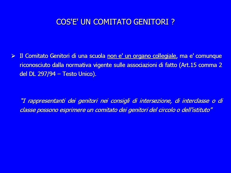COS E UN COMITATO GENITORI .