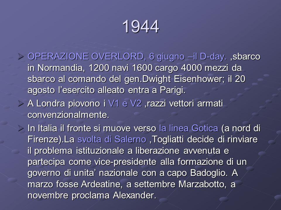 LItalia dal 1943 al 1945.