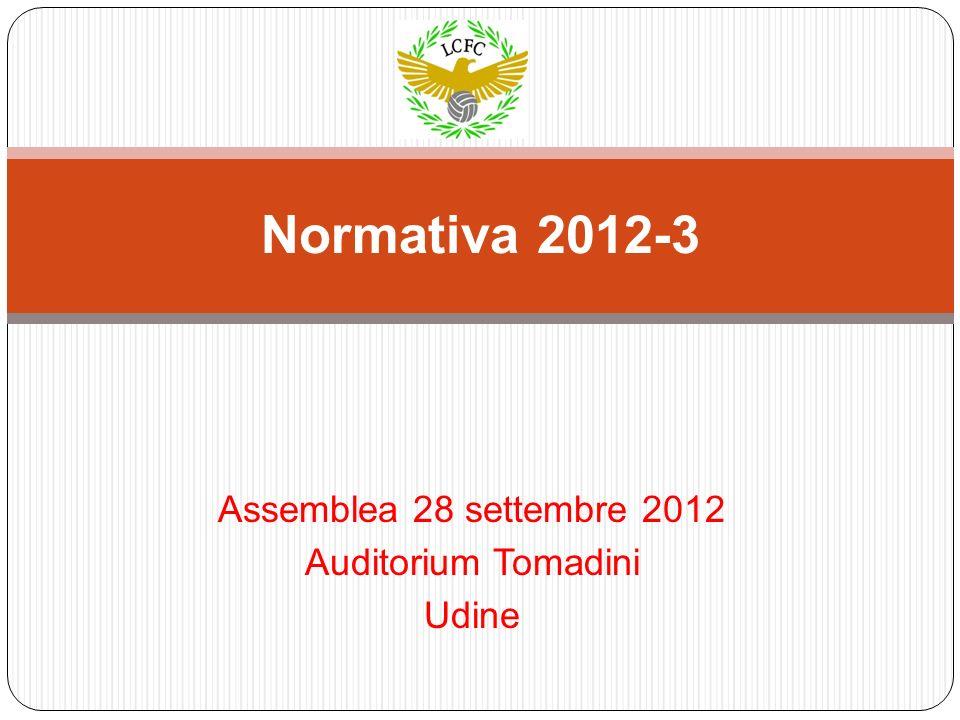 Assemblea 28 settembre 2012 Auditorium Tomadini Udine Normativa 2012-3