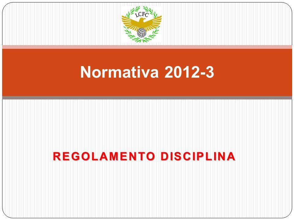 REGOLAMENTO DISCIPLINA Normativa 2012-3