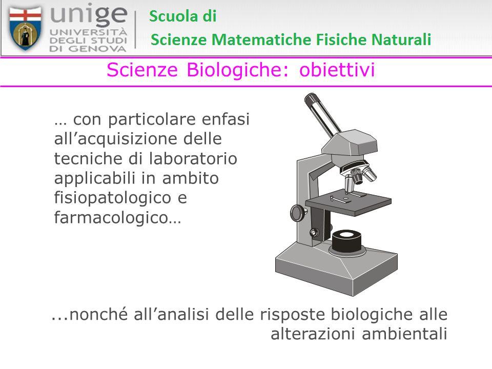 Scienze Biologiche: obiettivi … con particolare enfasi allacquisizione delle tecniche di laboratorio applicabili in ambito fisiopatologico e farmacolo