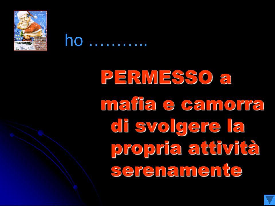 PERMESSO Alla Campania di gestire le immondizie a piacere ho ………..