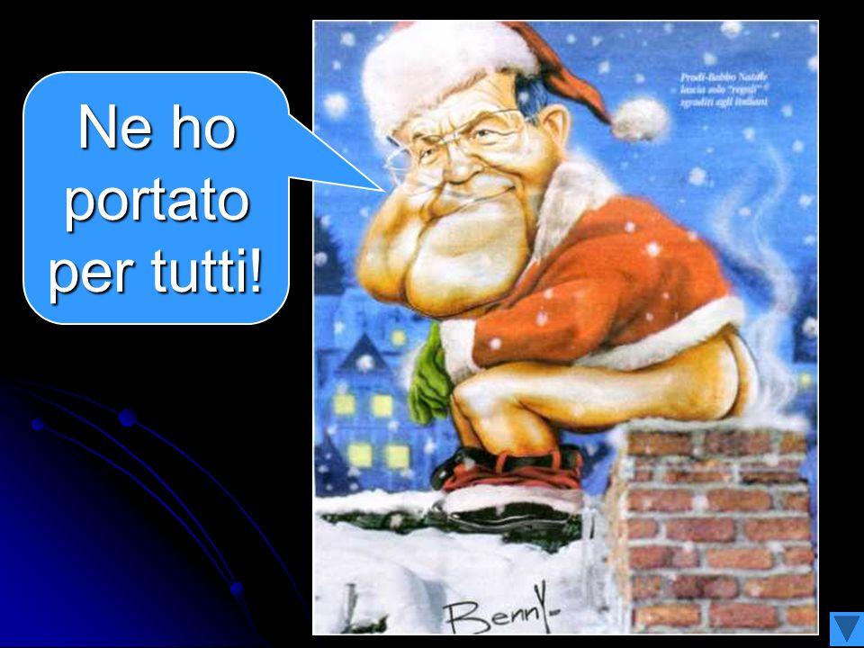 Nella notte di Natale un omino vestito di rosso ha portato i suoi regali agli italiani Babbo-Prodi Natale