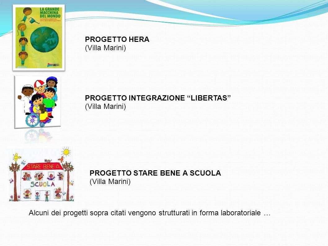PROGETTO INTEGRAZIONE LIBERTAS (Villa Marini) PROGETTO STARE BENE A SCUOLA (Villa Marini) Alcuni dei progetti sopra citati vengono strutturati in form