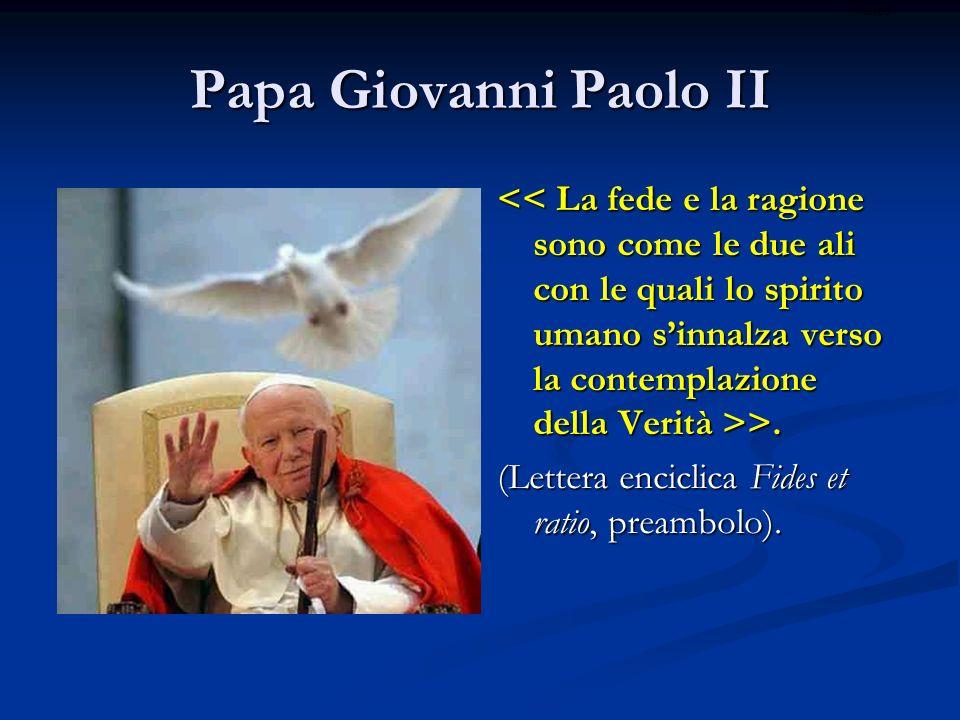 Papa Giovanni Paolo II >. >. (Lettera enciclica Fides et ratio, preambolo). ritardo