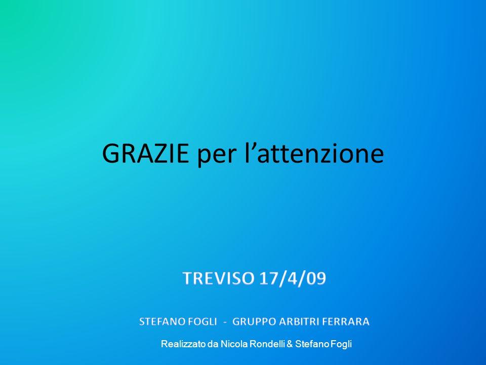 GRAZIE per lattenzione Realizzato da Nicola Rondelli & Stefano Fogli