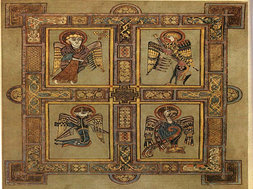 MATTEO simboleggiato nelluomo alato (o angelo), perché il suo Vangelo inizia con l'elenco degli uomini antenati di Gesù Messia MARCO simboleggiato nel