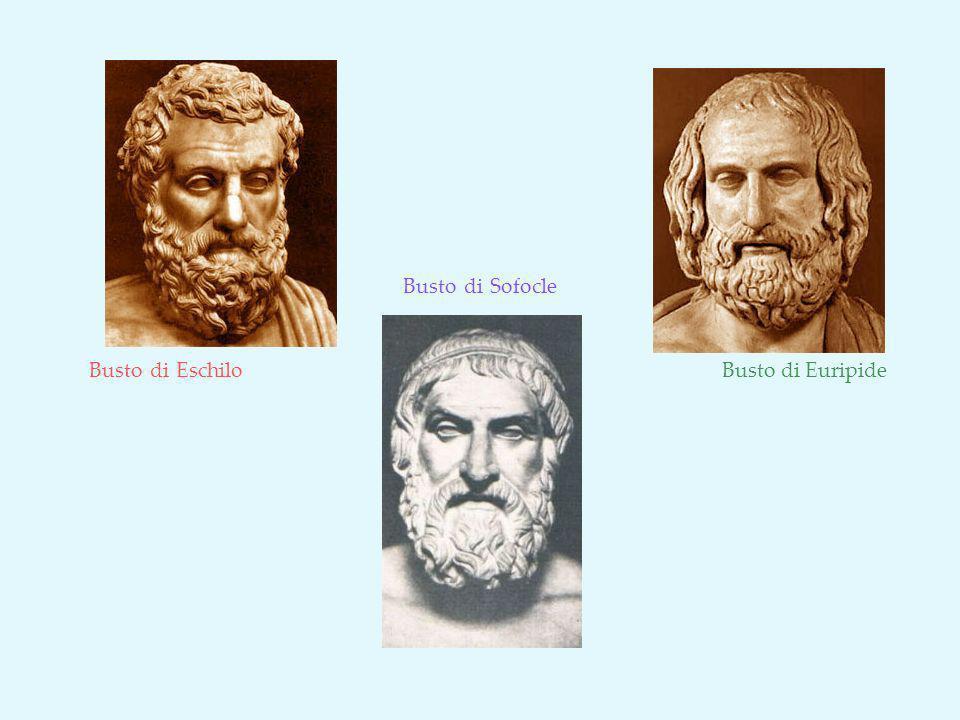 Busto di Eschilo Busto di Sofocle Busto di Euripide