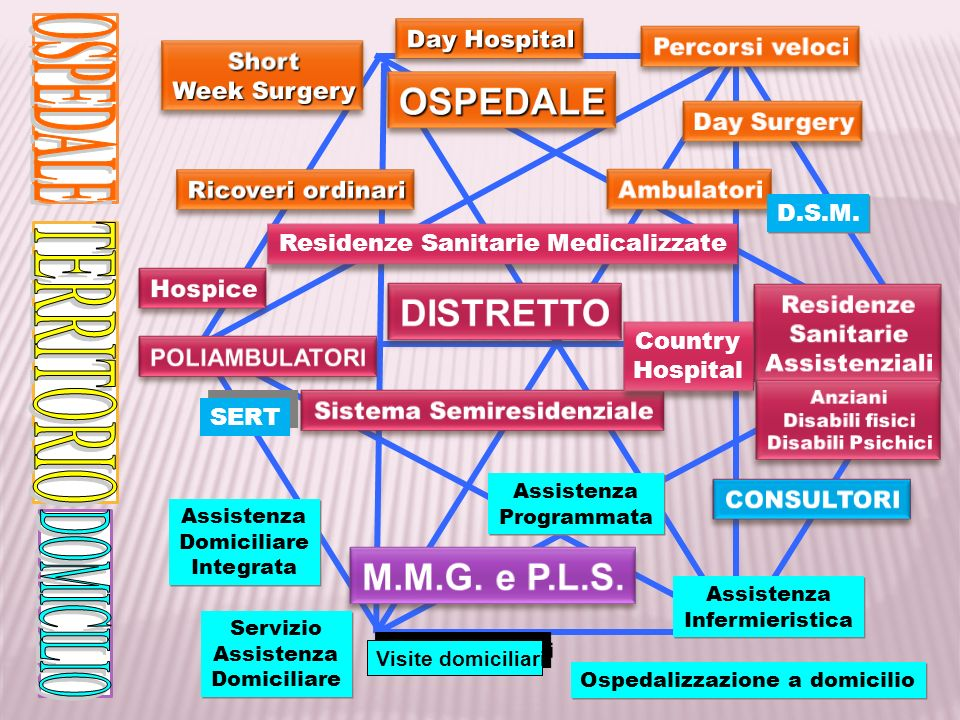 Residenze Sanitarie Medicalizzate Country Hospital Country Hospital SERT D.S.M. Assistenza Domiciliare Integrata Assistenza Domiciliare Integrata Serv