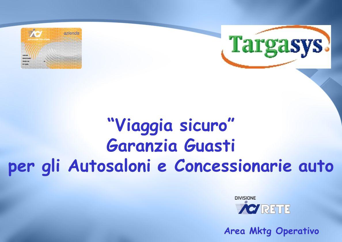 Viaggia sicuro Garanzia Guasti per gli Autosaloni e Concessionarie auto Area Mktg Operativo