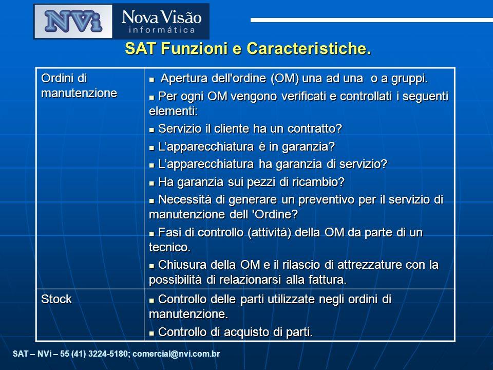 SAT Funzioni e Caracteristiche.Controlli finanziari Controllo di approvazione dei preventivi.