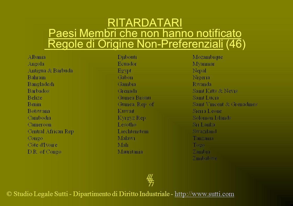 © Studio Legale Sutti - Dipartimento di Diritto Industriale - http://www.sutti.comhttp://www.sutti.com RITARDATARI Paesi Membri che non hanno notifica