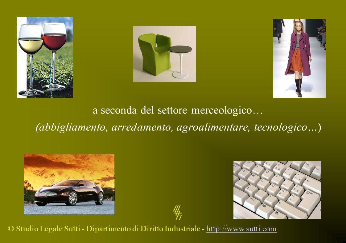 © Studio Legale Sutti - Dipartimento di Diritto Industriale - http://www.sutti.comhttp://www.sutti.com a seconda del settore merceologico… (abbigliame