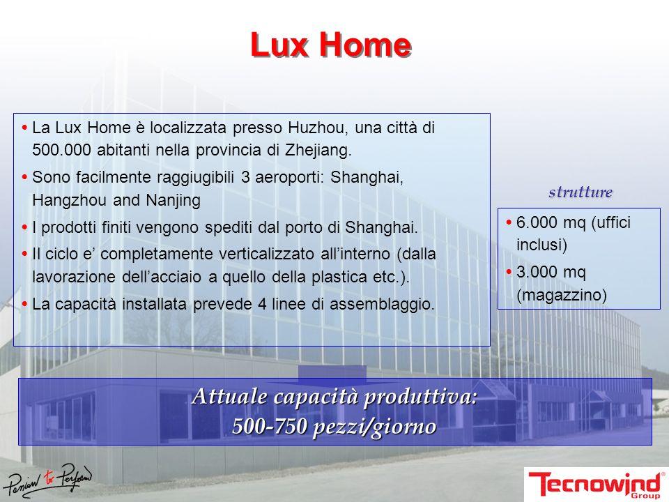 La Lux Home è localizzata presso Huzhou, una città di 500.000 abitanti nella provincia di Zhejiang.