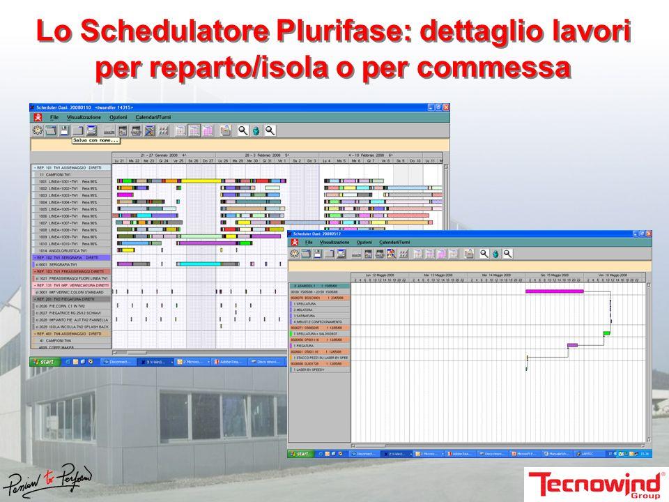 Lo Schedulatore Plurifase: dettaglio lavori per reparto/isola o per commessa