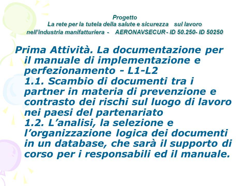 Prima Attività. La documentazione per il manuale di implementazione e perfezionamento - L1-L2 1.1.