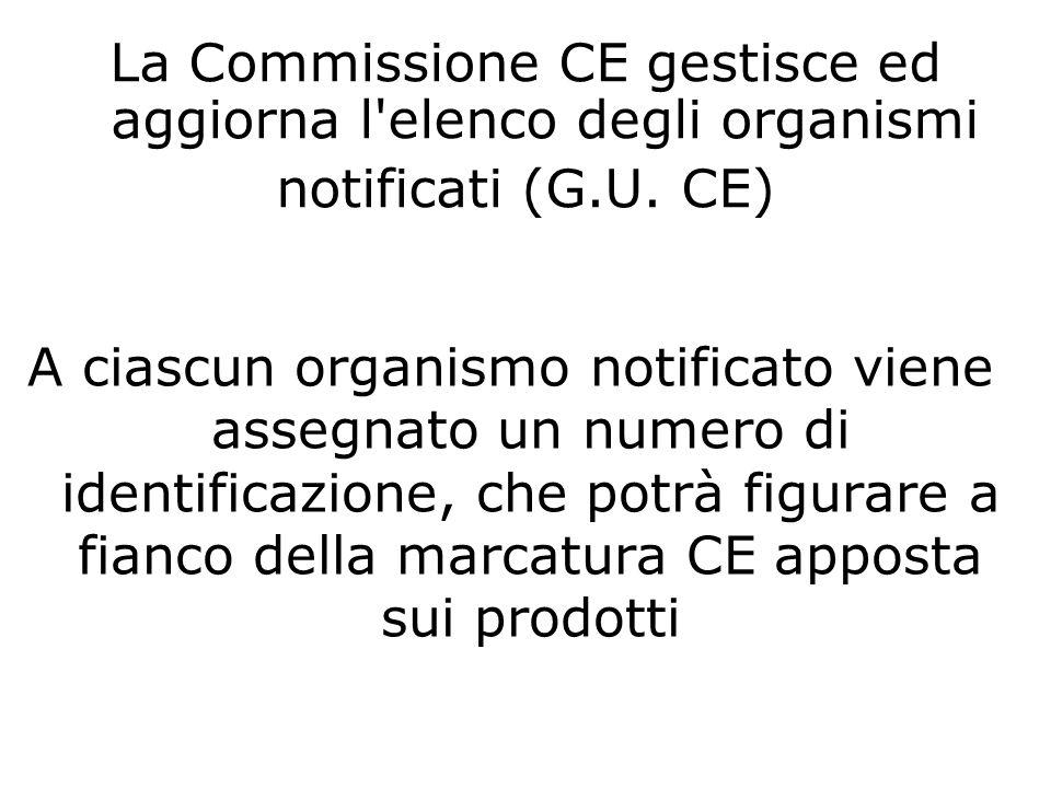 A ciascun organismo notificato viene assegnato un numero di identificazione, che potrà figurare a fianco della marcatura CE apposta sui prodotti La Co