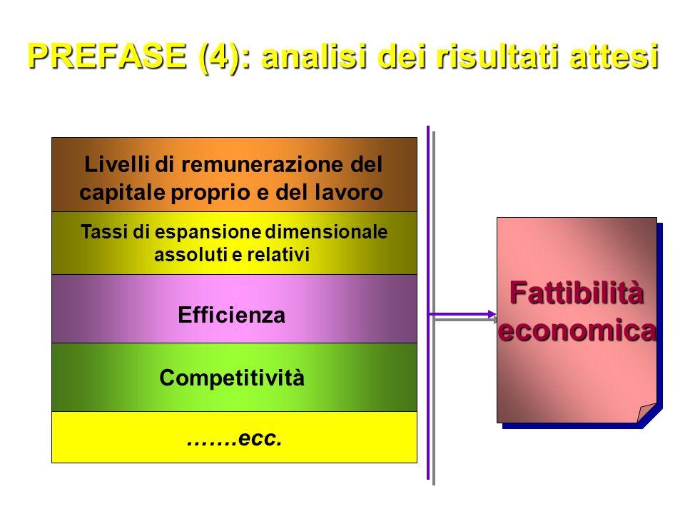 PREFASE (3): analisi del comportamento delle aziende di settore Politiche dei prezzi-ricavo Pubblicità Ricerca e sviluppo per innovazione del prodotto e del processo produt.