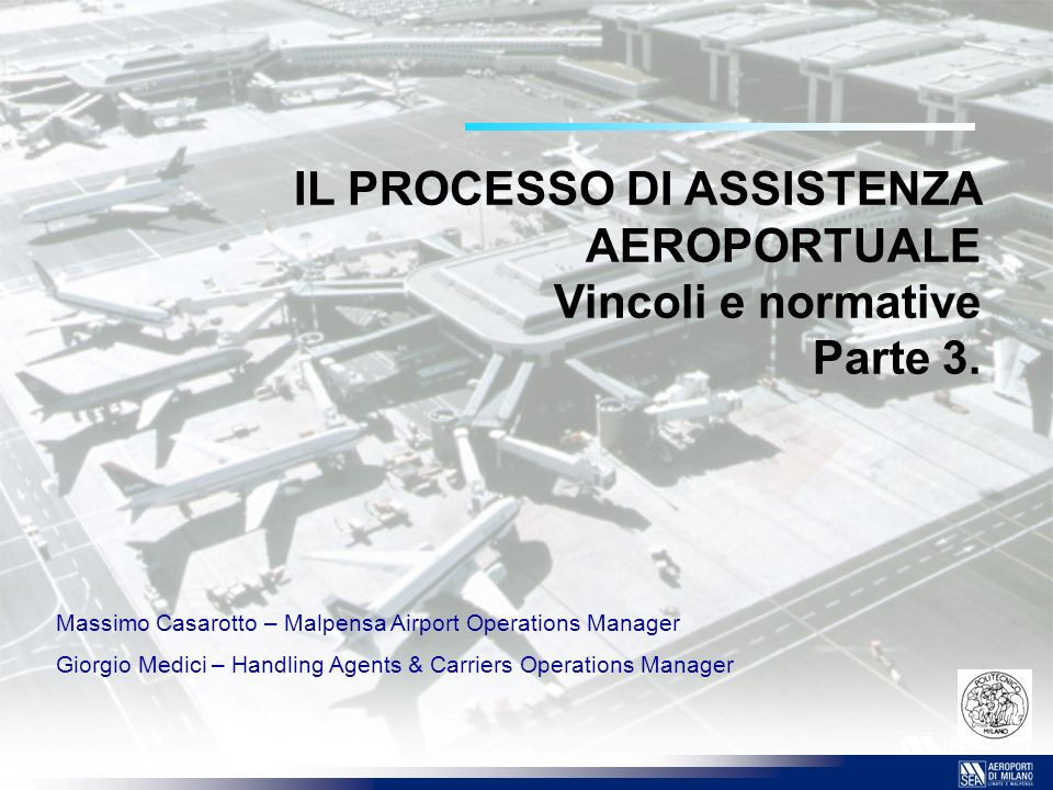 22 I SERVIZI CODIFICATI SECTION 6.RAMP 6.1Marshalling 6.2Parking 6.3Ramp to Flight Deck Communication 6.4Loading/Embarking and Unloading/Disembarking 6.5Starting 6.6Safety Measures 6.7Moving of Aircraft SECTION 7.AIRCRAFT SERVICING 7.1Exterior Cleaning 7.2Interior Cleaning 7.3Toilet Service 7.4Water Service 7.5Cooling and Heating 7.6De-Icing/Anti-Icing Services and Snow/Ice Removal According to the Carrier s Instructions 7.7Cabin Equipment and Inflight Entertainment Material 7.8Storage of Cabin Material SECTION 8.FUEL AND OIL 8.1Fuelling and/or Defuelling 8.2Replenishing of Oils and Fluids SECTION 9.AIRCRAFT MAINTENANCE 9.1Routine Services 9.2Non-routine Services 9.3Material Handling 9.4Parking and Hangar Space