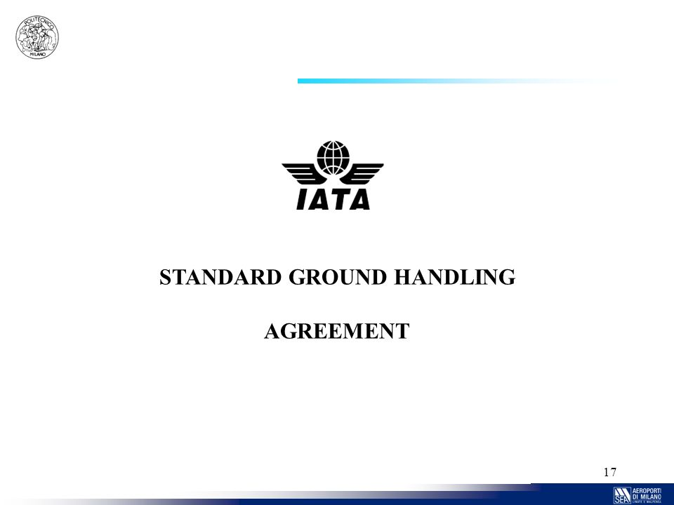 17 STANDARD GROUND HANDLING AGREEMENT