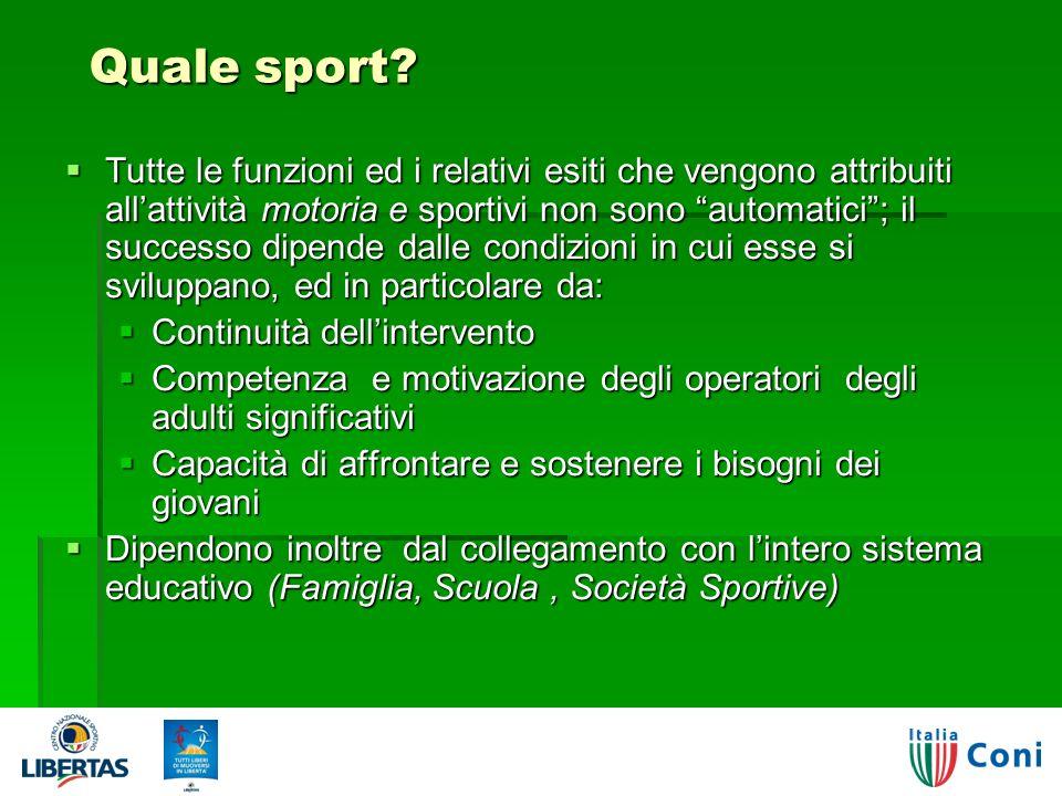 Quale sport.Quale sport.