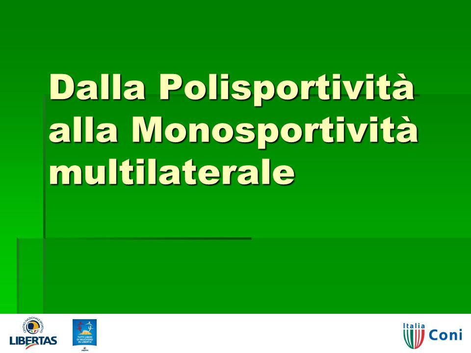 Dalla Polisportività alla Monosportività multilaterale