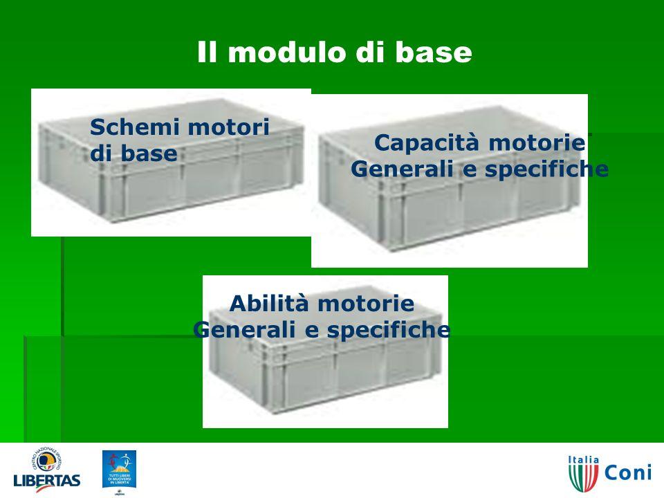 Il modulo di base Capacità motorie Generali e specifiche Schemi motori di base Abilità motorie Generali e specifiche 3503/04/2014