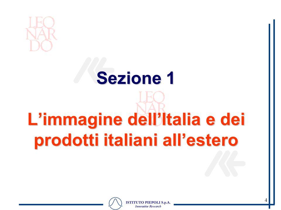 4 Sezione 1 Limmagine dellItalia e dei prodotti italiani allestero
