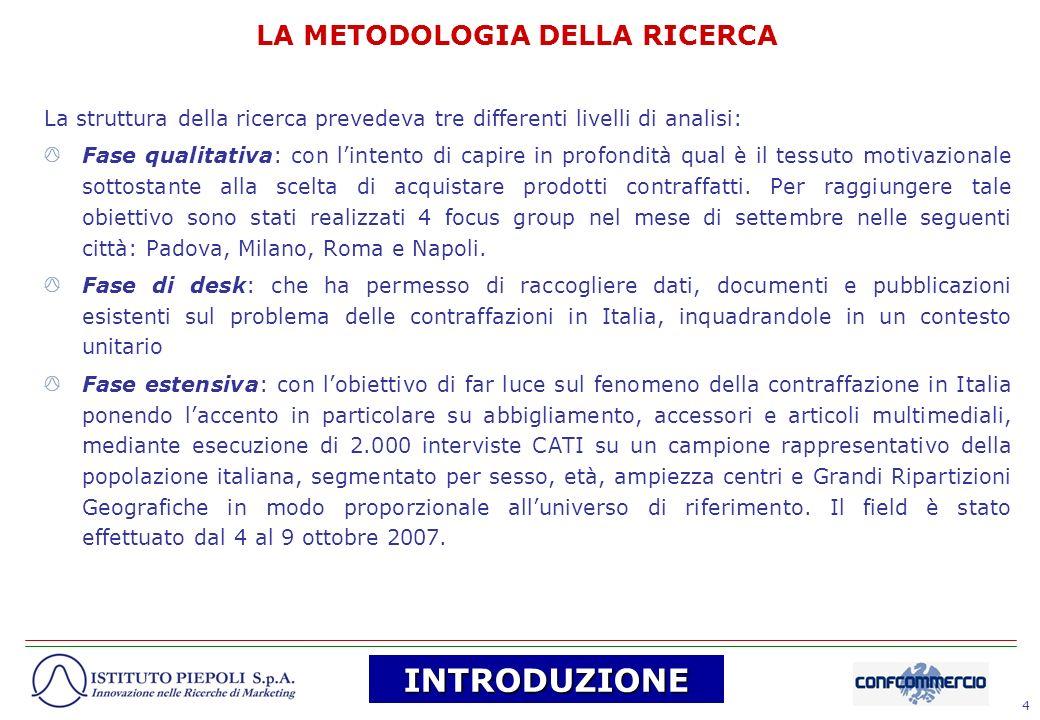 55 Anche le industrie dellhinterland milanese si distinguono per unintensa attività di contraffazione di beni.