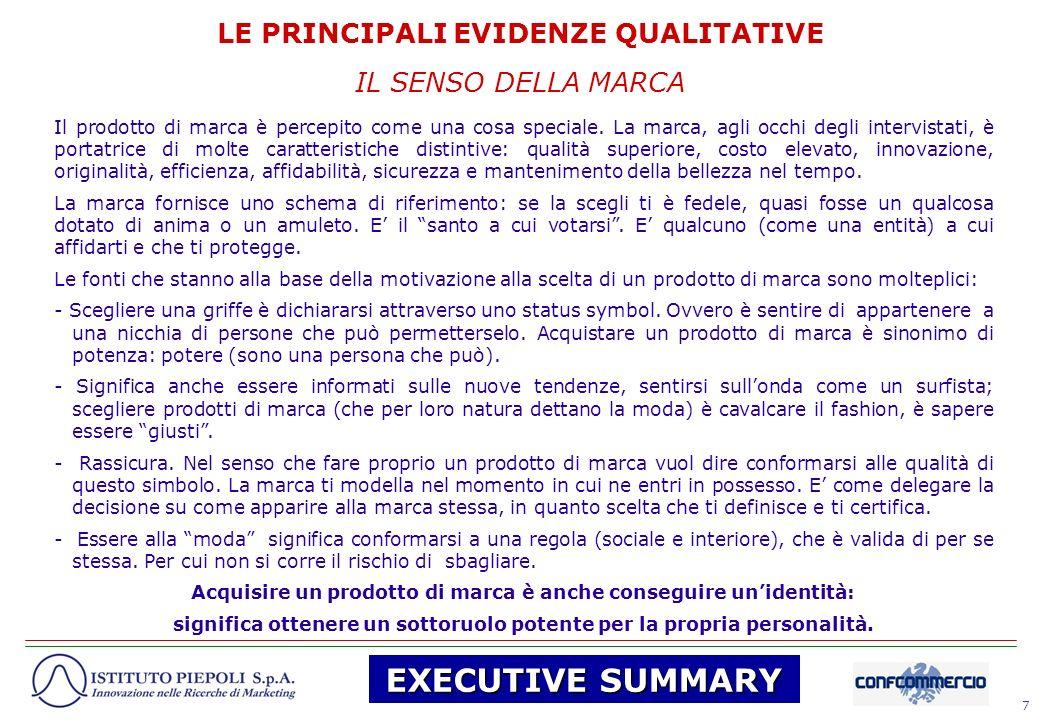 18 Viene qui presentato il rapporto di ricerca della fase qualitativa riguardante la contraffazione.