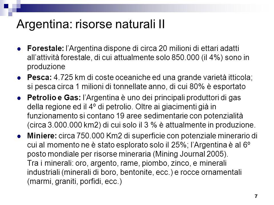 Parte 3 Dettaglio matrici riassuntive delle Opportunità di Complementazione tra la Regione Veneto e lArgentina