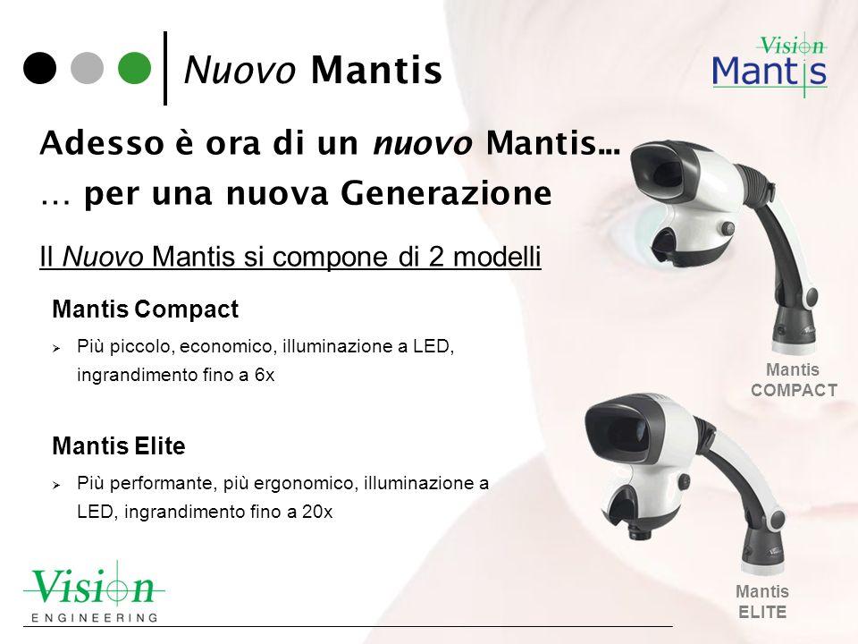 Adesso è ora di un nuovo Mantis... … per una nuova Generazione Il Nuovo Mantis si compone di 2 modelli Mantis ELITE Mantis COMPACT Nuovo Mantis Mantis