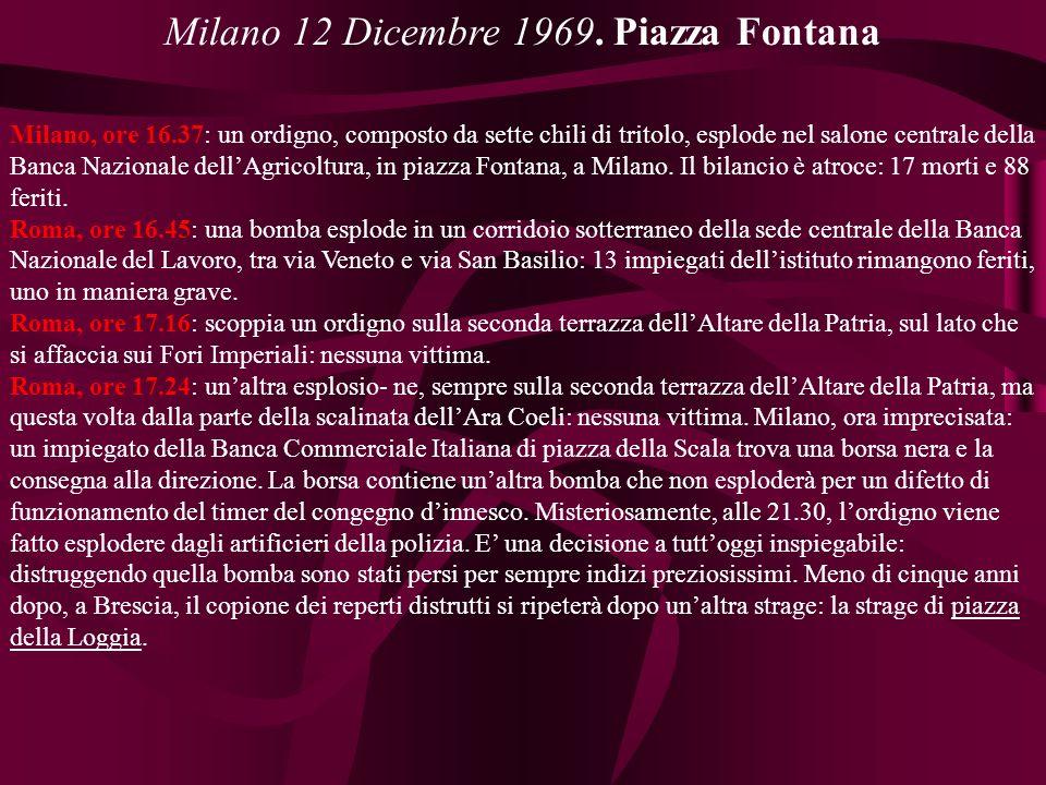Milano 12 Dicembre 1969.