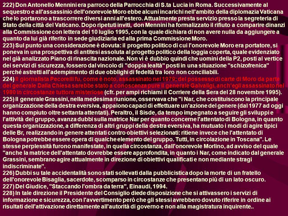 222) Don Antonello Mennini era parroco della Parrocchia di S.ta Lucia in Roma.