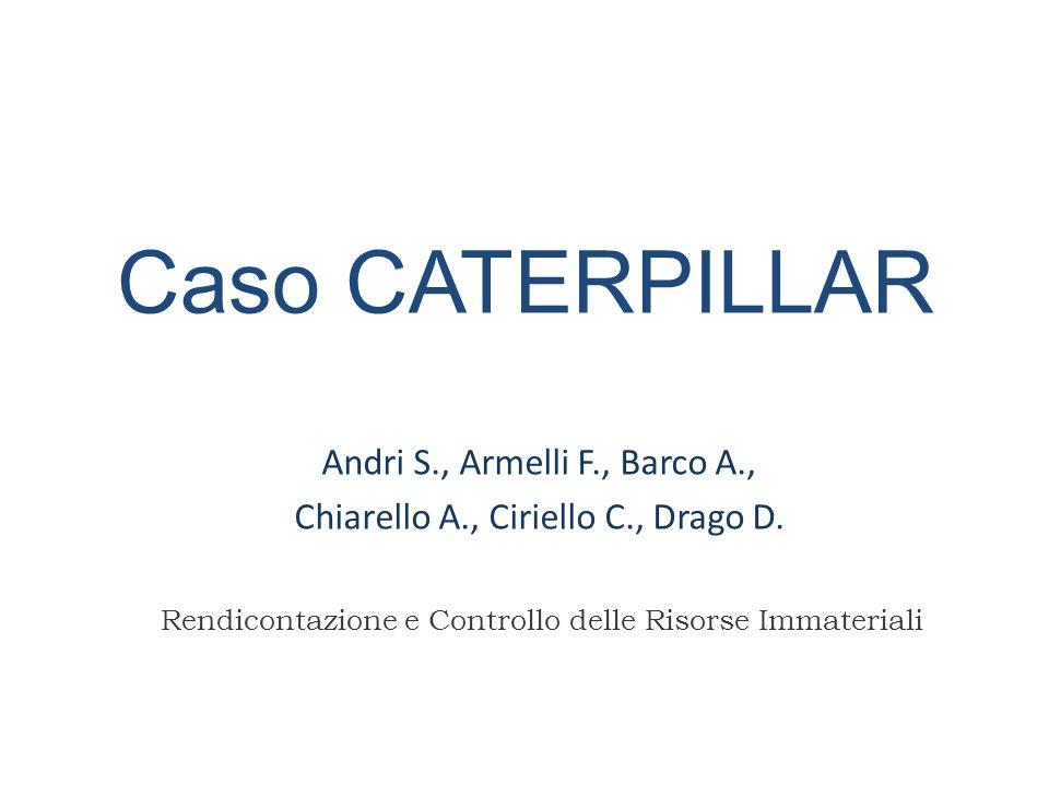 Caso CATERPILLAR Andri S., Armelli F., Barco A., Chiarello A., Ciriello C., Drago D. Rendicontazione e Controllo delle Risorse Immateriali