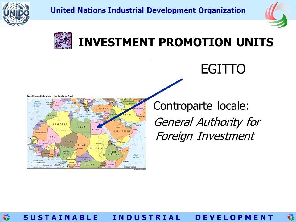 9 S U S T A I N A B L E I N D U S T R I A L D E V E L O P M E N T United Nations Industrial Development Organization < GIORDANIA Controparte locale: Jordan Investment Board