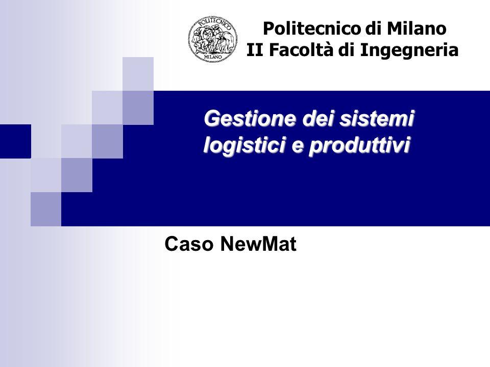 Gestione dei sistemi logistici e produttivi Politecnico di Milano II Facoltà di Ingegneria Caso NewMat